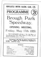Copy of the First Ever Brough Park Programme 1929